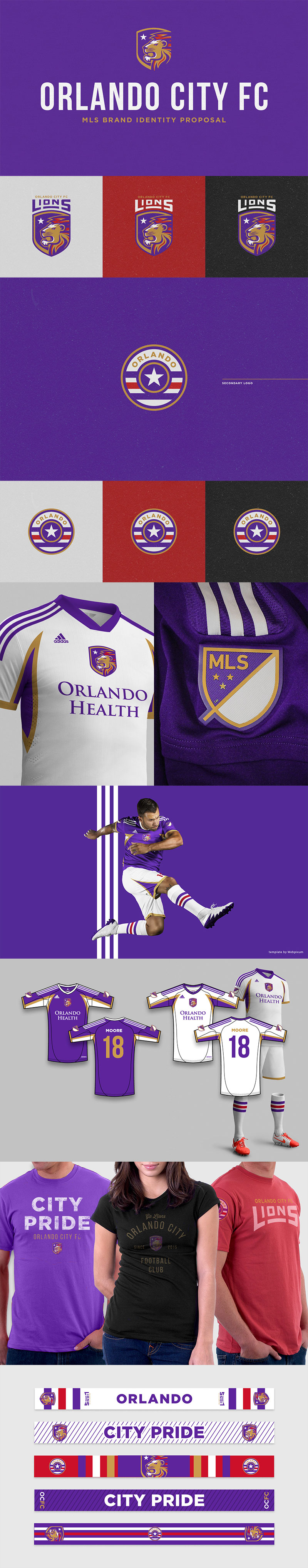 Orlando City Football Club - Identity Proposal by Brandon Moore