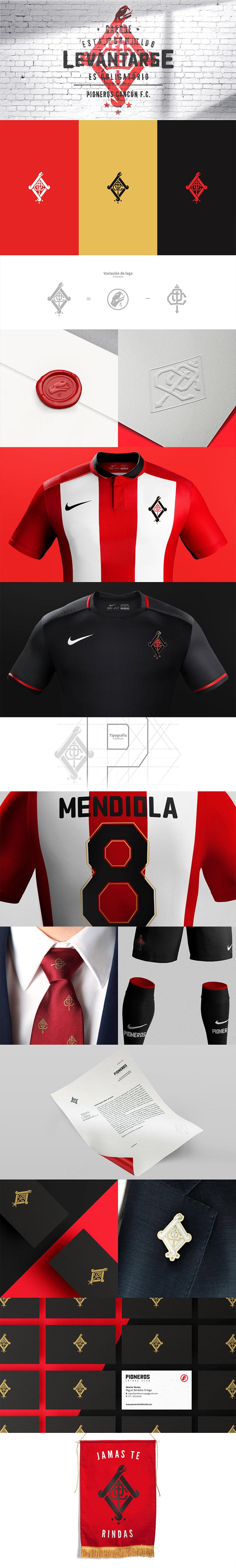 Diseños de marca del club de fútbol: Pioneros Cancún FC