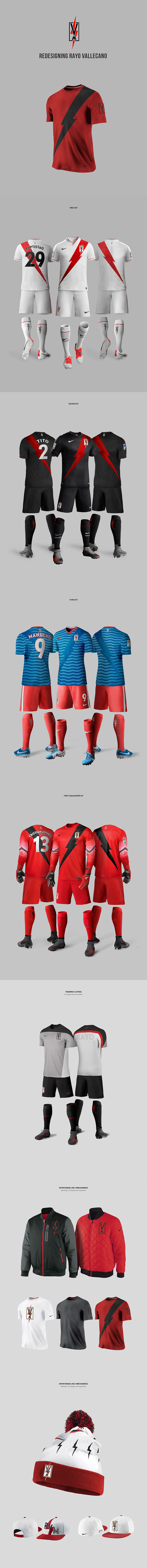 Diseños de la marca del club de fútbol: Rayo Vallecano Rebranding por Nerea Palacios
