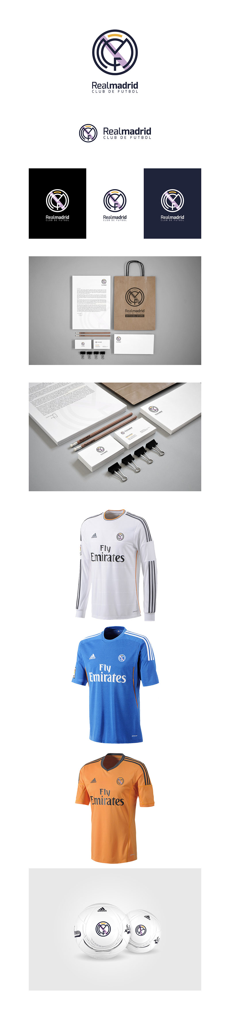Diseños de la marca Football Club: Rediseño del Real Madrid CF por Rubén Ferlo