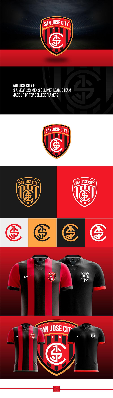 Diseños de la marca del club de fútbol: San Jose City FC por Mohamed Farid