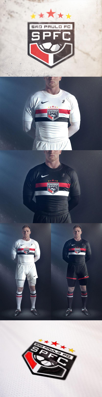 Diseños de la marca del club de fútbol: São Paulo Futebol Clube por Brandon Williams
