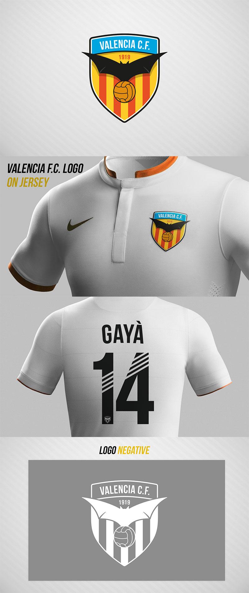 Diseños de la marca del club de fútbol: Valencia FC -Rebrand- por Fateh Zid