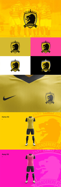 Diseños de la marca del club de fútbol: Cambio de marca del Wanderers FC por Kareem Gouda
