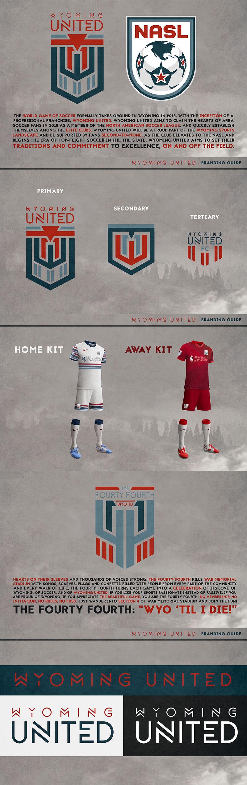 Diseños de la marca del club de fútbol: Wyoming United por Billy Harris