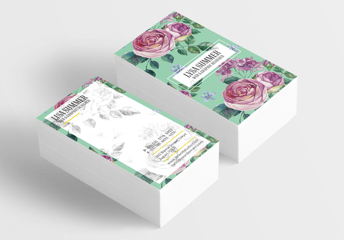 How To: Make a Print-Ready Floral Business Card in Adobe Photoshop