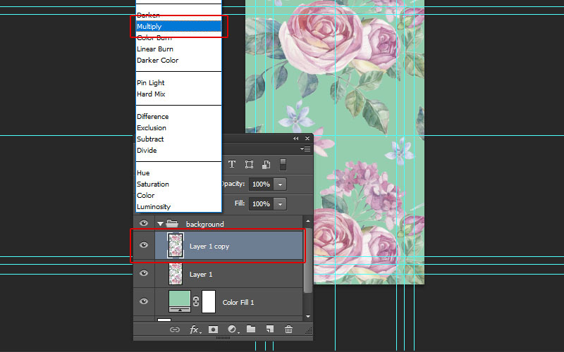Floral Business Card Tutorial Photoshop
