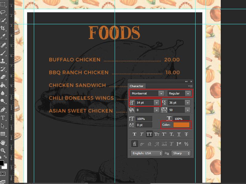 Step 5-Restaurant Menu Card Photoshop Tutorial