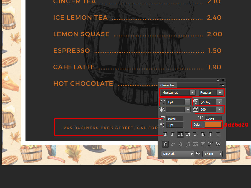Step 5-Restaurant Menu Card Photoshop Tutorial