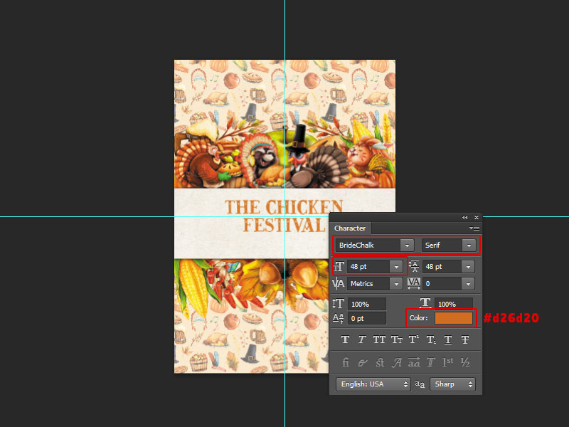 Step 7-Restaurant Menu Card Photoshop Tutorial