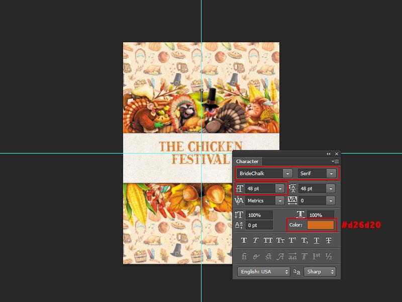 Step 7-Restaurant Menu Card Photoshop Tutorial