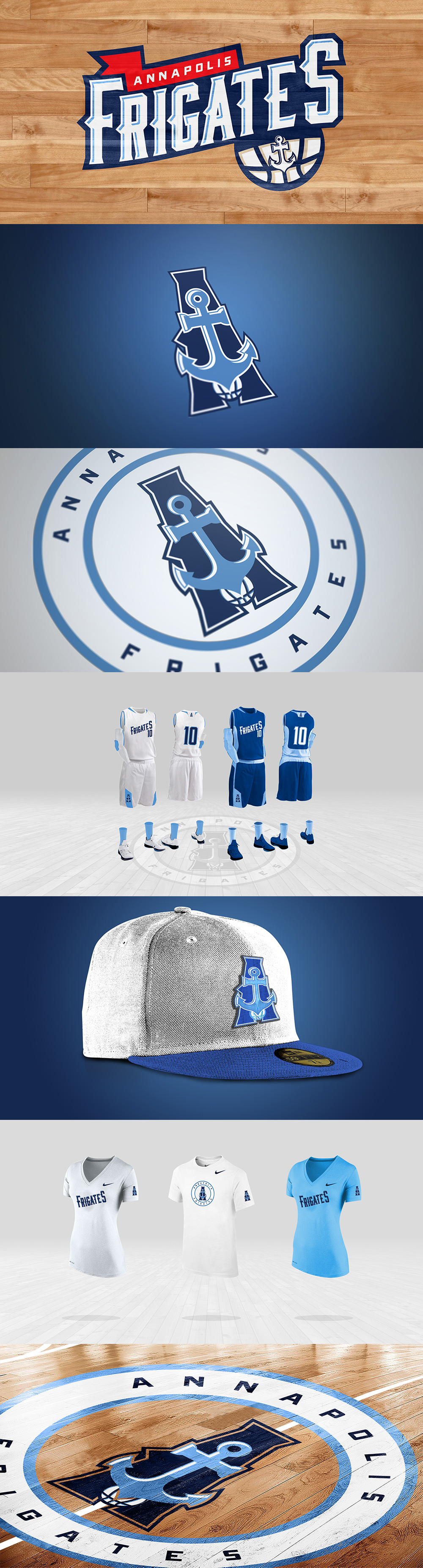 Basketball Team Logo: Annapolis Frigates by Kevin Aka