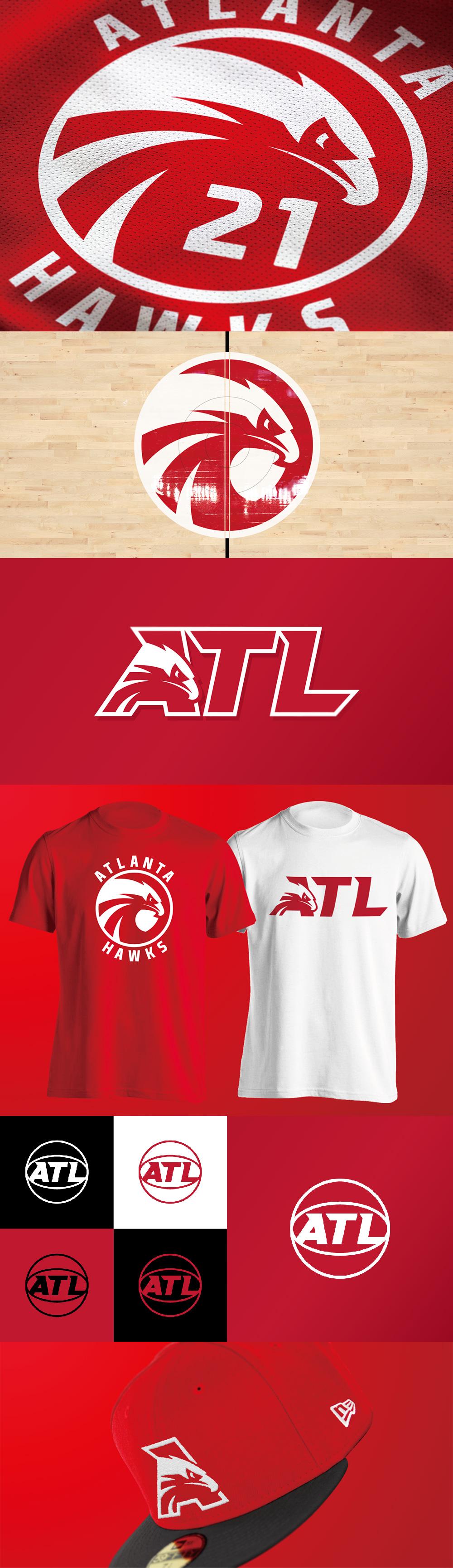 Logotipo del equipo de baloncesto: concepto del logotipo de los Atlanta Hawks por Yu Masuda