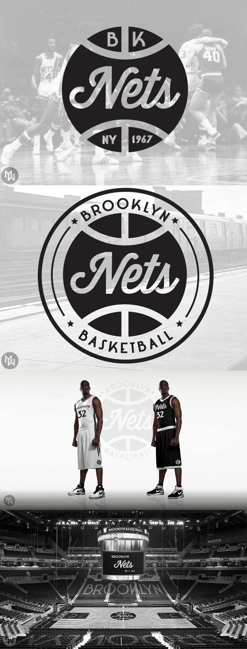 Basketball Team Logo: Brooklyn Nets Redesign by Matthew Wolff