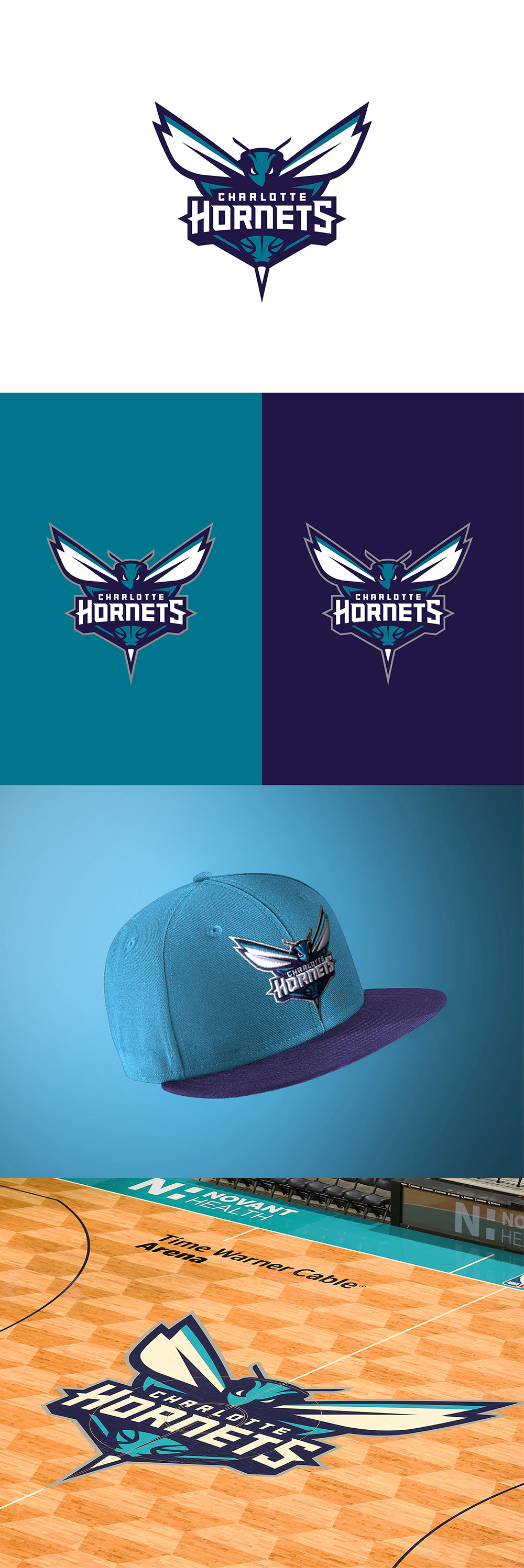 Basketball Team Logo: Charlotte Hornets by Darrin Crescenzi