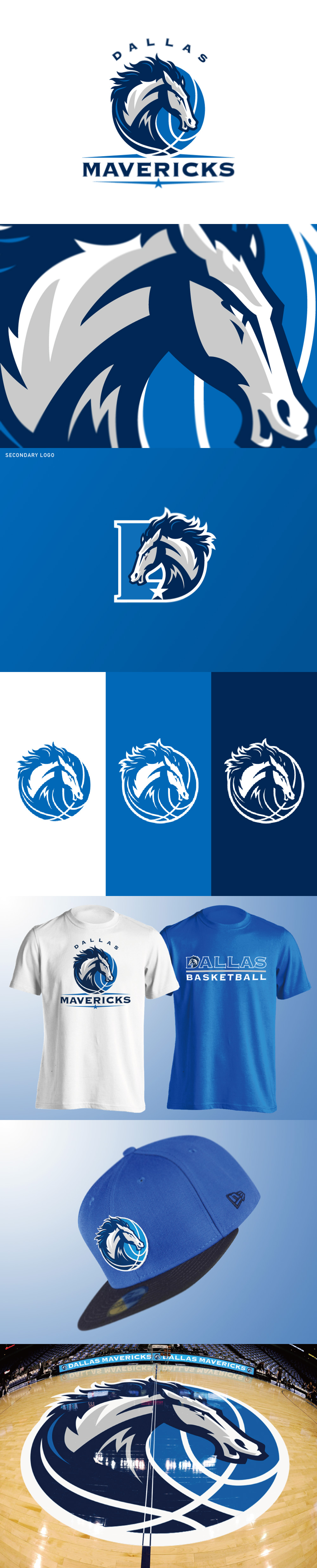 Basketball Team Logo: Dallas Mavericks logo concept by Yu Masuda