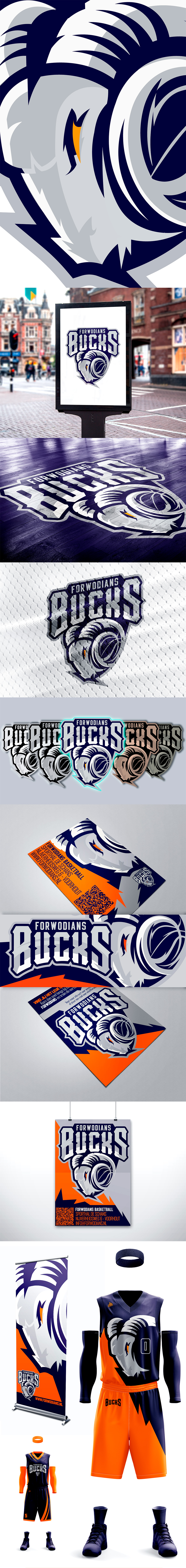 Logotipo del equipo de baloncesto: Forwodians Bucks por Yark Digital Artist