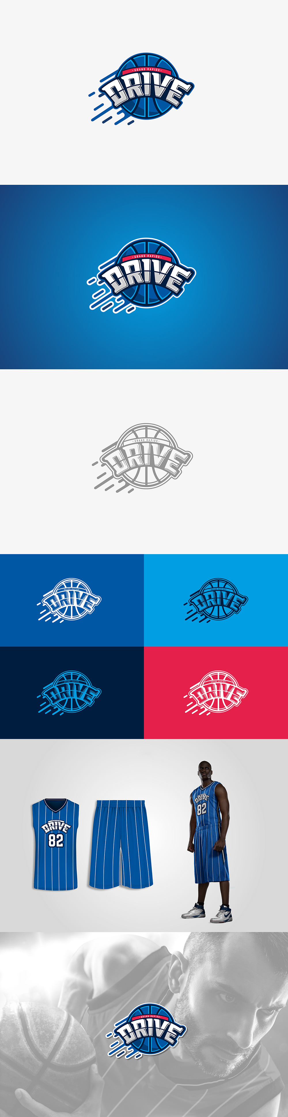 Basketball Team Logo: Grand Rapids Drive by Jimmy Cudriz