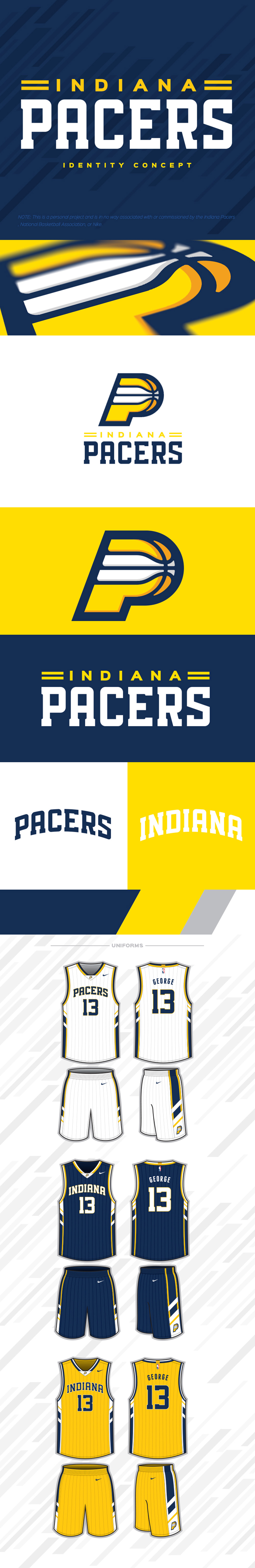 Basketball Team Logo: Indiana Pacers Identity Concept by Justin Wilkinson