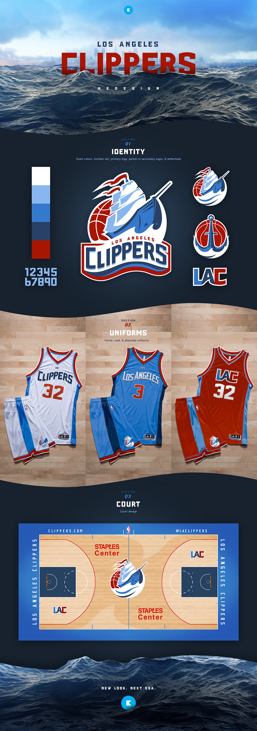 Basketball Team Logo: Los Angeles Clippers by Dan Kennedy