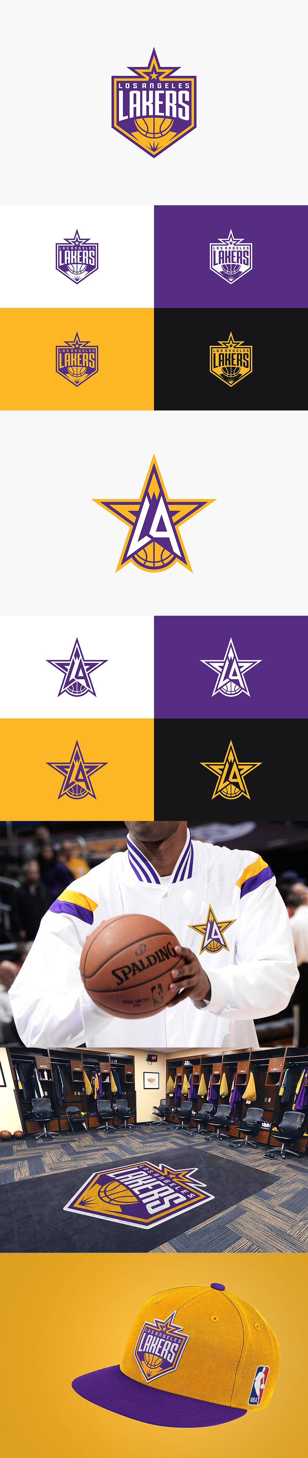 Basketball Team Logo: Los Angeles Lakers rebranding concept by Pan Hu