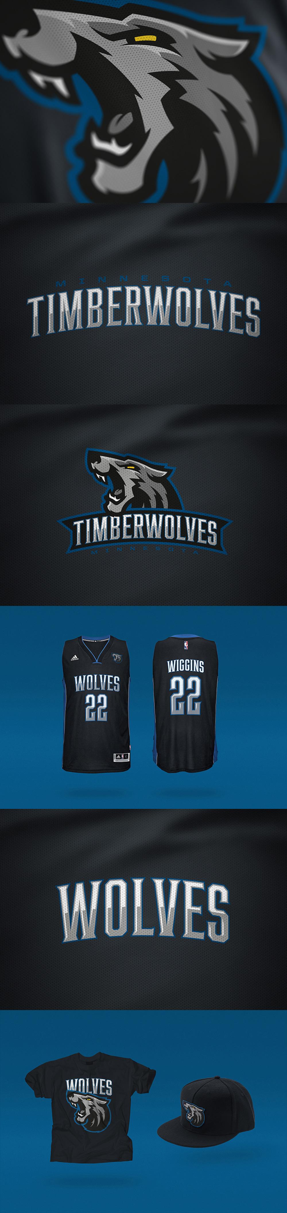 Logotipo del equipo de basketball: Minnesota Timberwolves Rebrand Concept de Miika Kumpulainen