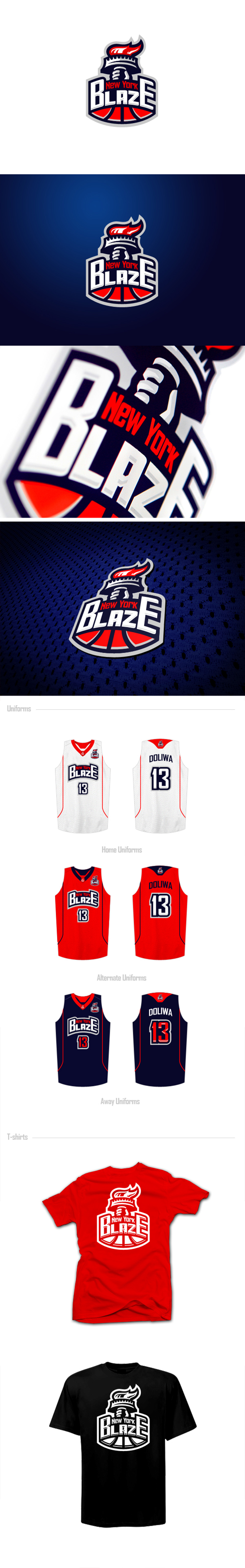 Basketball Team Logo: New York Blaze by Lunatic