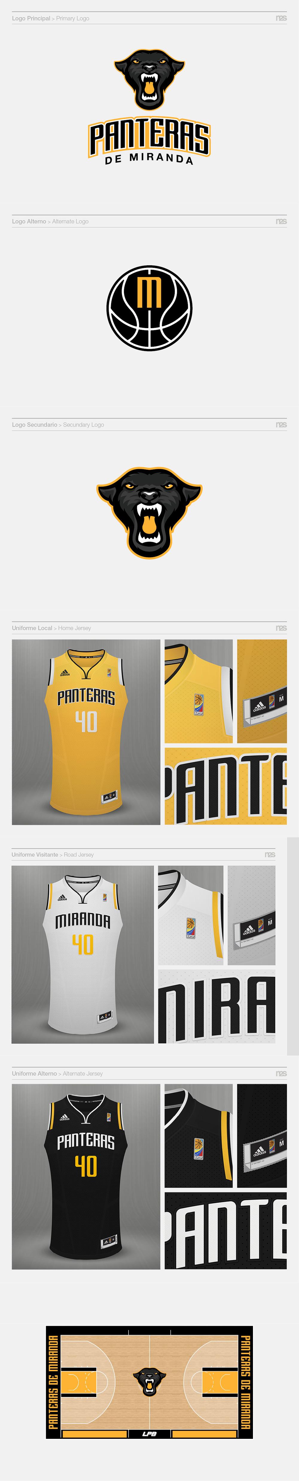 Logo del equipo de baloncesto: Panteras de Miranda por Manuel Dos Santos