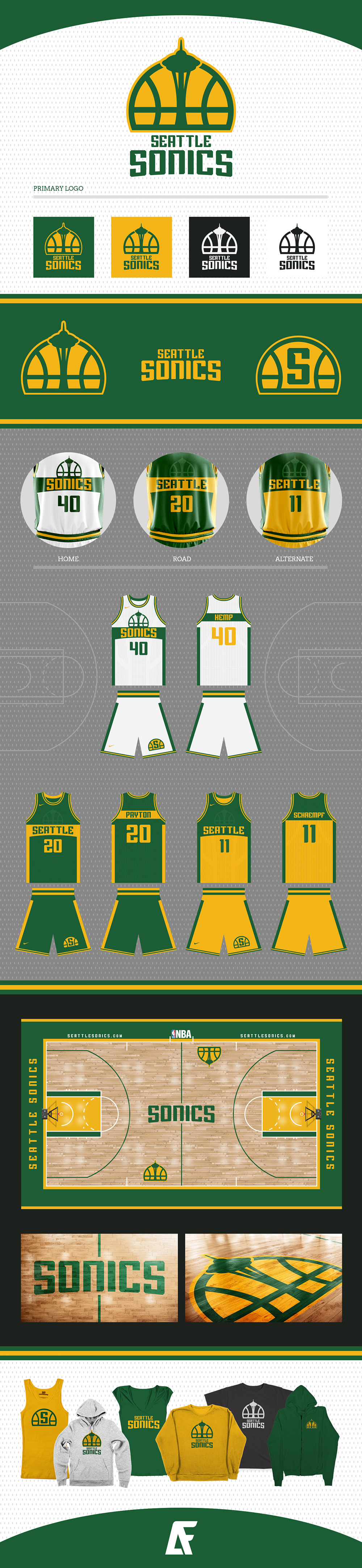 Basketball Team Logo: Seattle Sonics Identity concept by Addison Foote