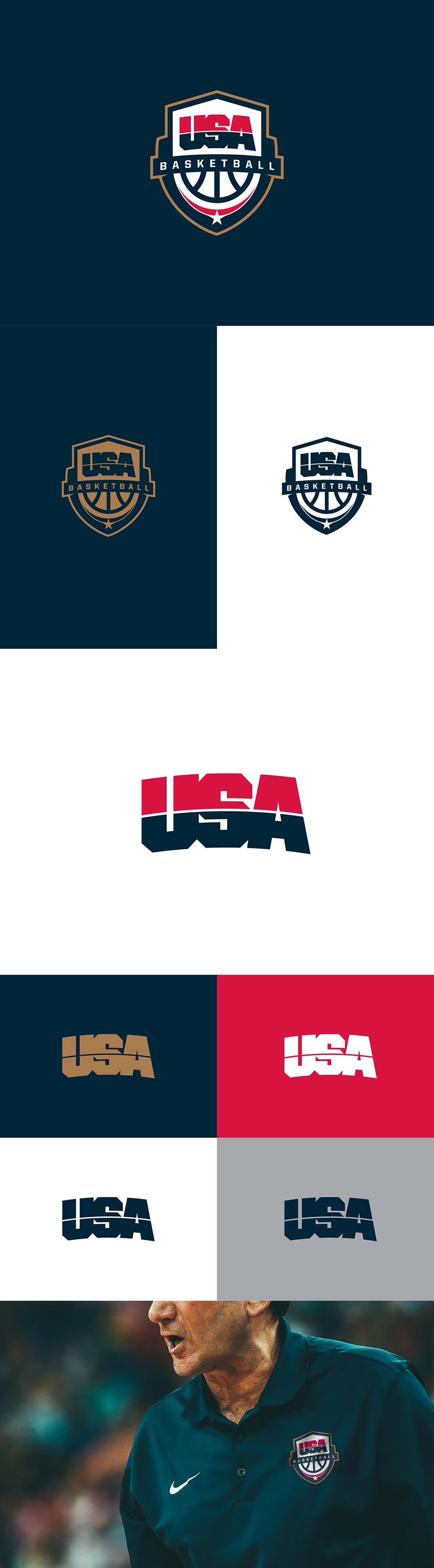Logotipo del equipo de baloncesto: Baloncesto de EE. UU. Por Darrin Crescenzi