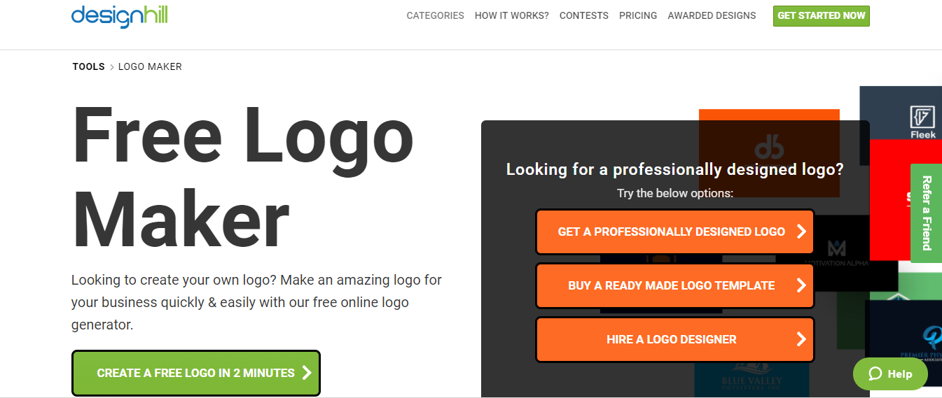 Design my own logo free online with url