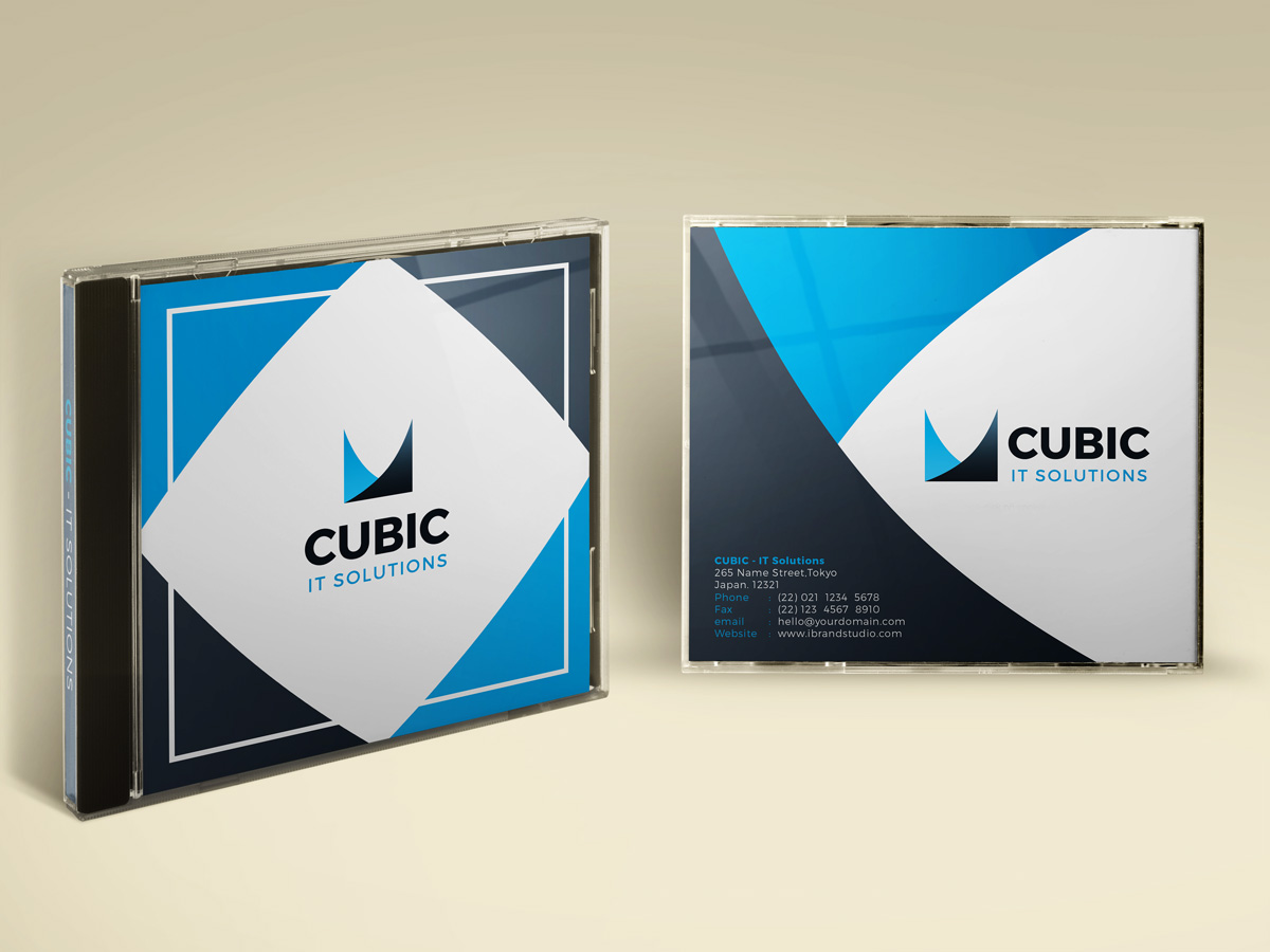 Freebie cubic cd cover template 3 colors psd maxwellsz