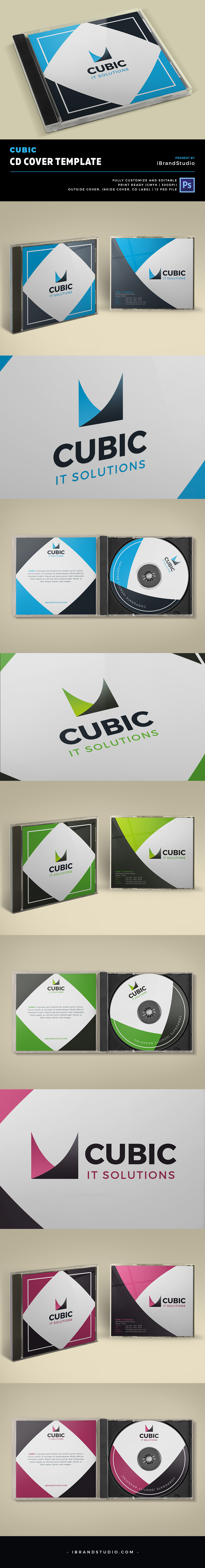 Cubic - Free CD Cover Design Template