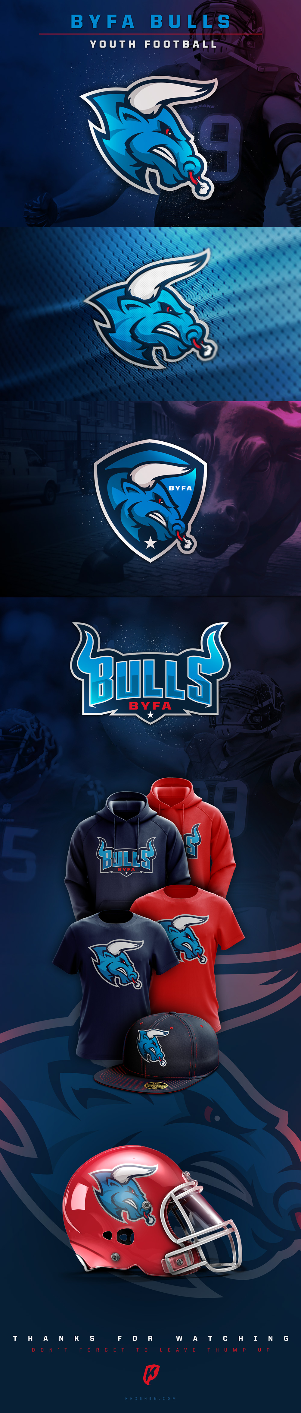 Logotipo e identidad del equipo creativo de fútbol americano