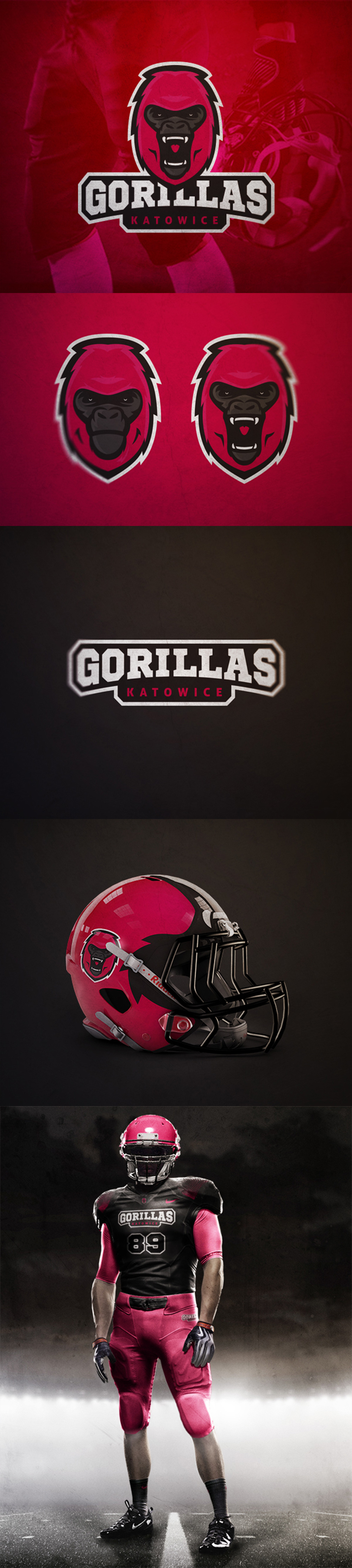 Creative American Football Team Logo and Identity