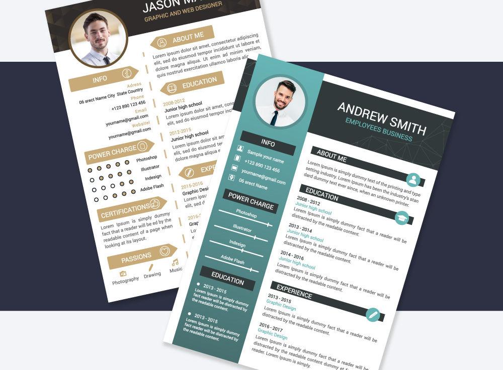 Freebie 10 Resume CV Templates AI EPS