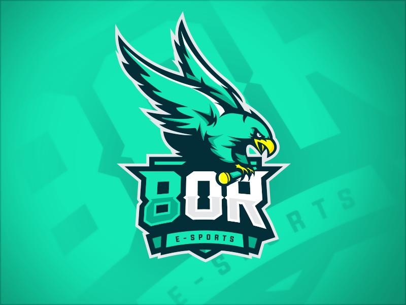 Logotipos de Equipos de eSports y gamers - Diseño del logotipo del equipo 8OR eSport