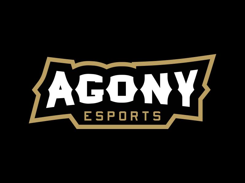 Logotipos de Equipos de eSports y gamers - Diseño de logotipo Agony eSports Wordmark