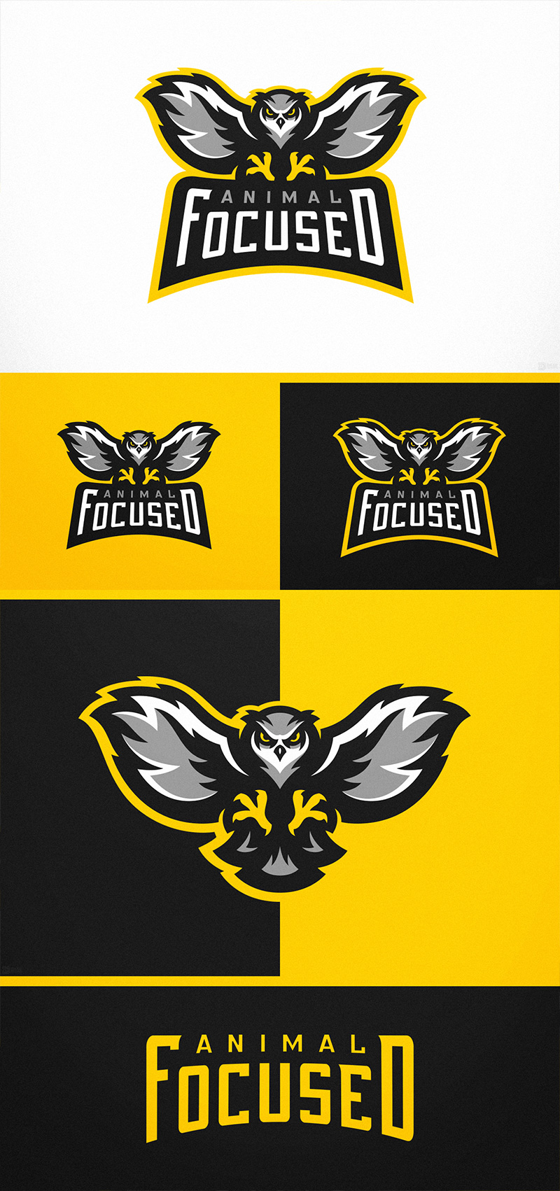 Proyecto de logotipo de Animal Focused Owl eSports