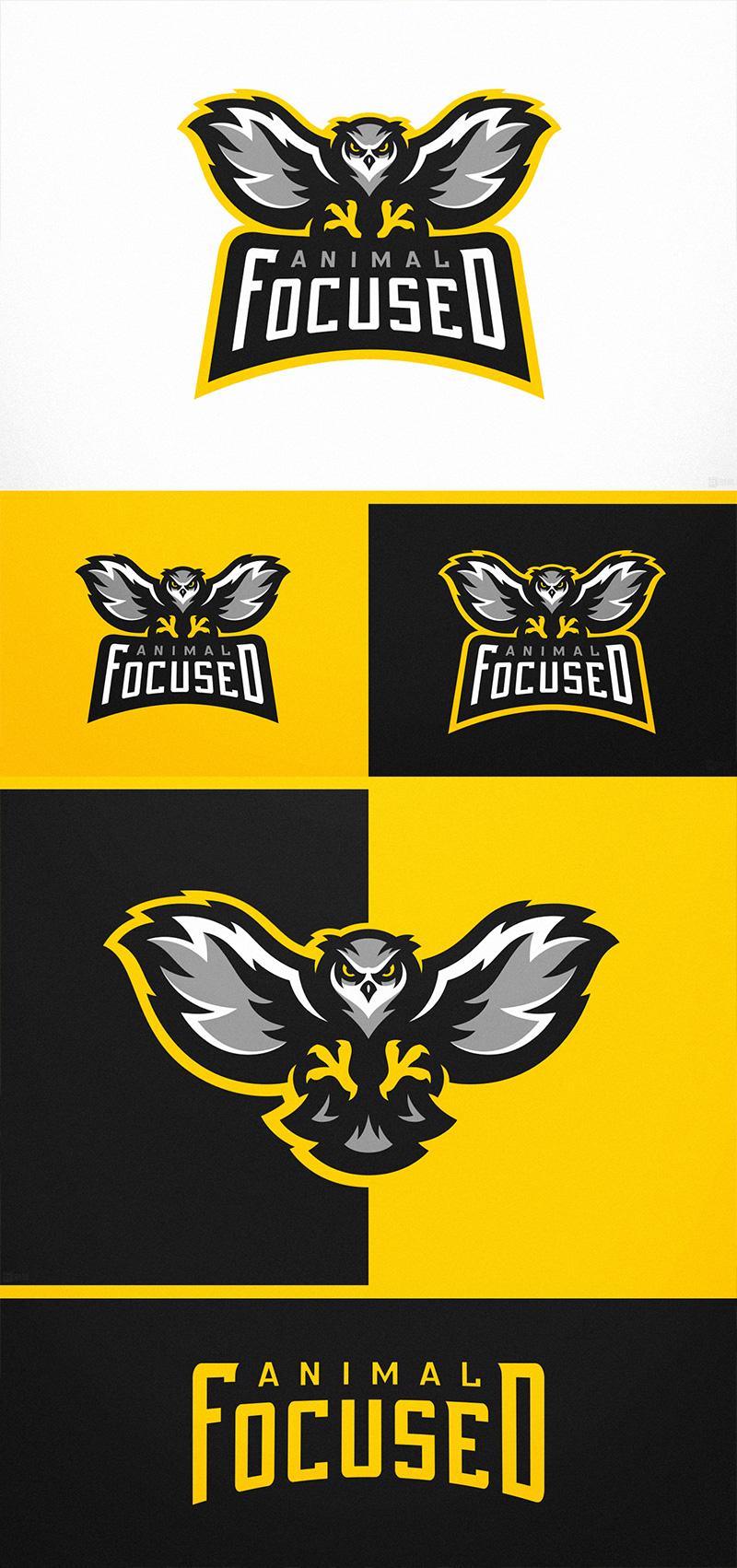 Logotipos de Equipos de eSports y gamers - Proyecto de logotipo de eSports de búho enfocado en animales