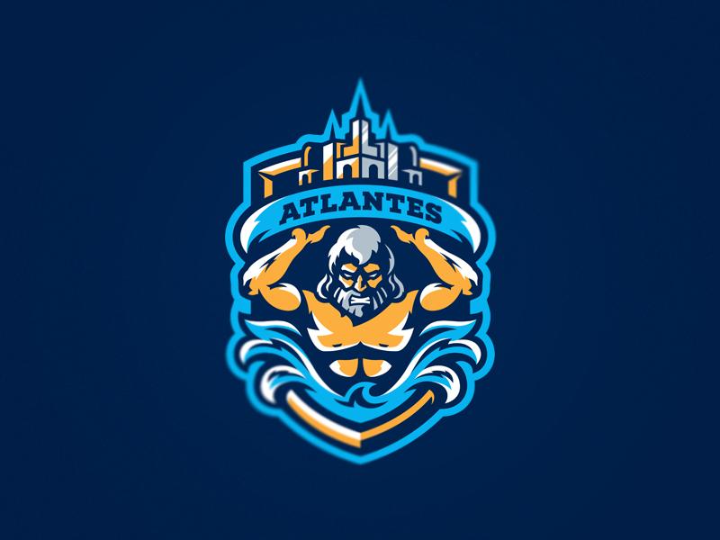Atlantes eSport Team Diseño de logotipo