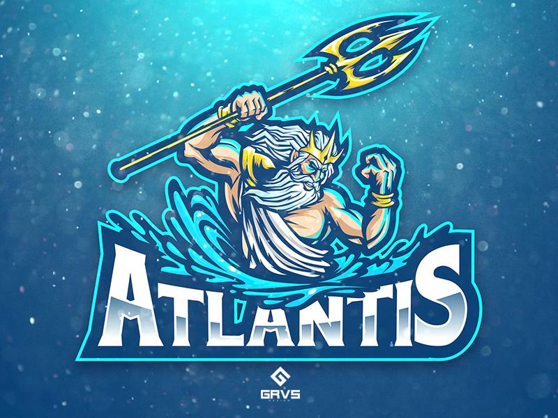 Diseño de logotipo del equipo Atlantis eSport