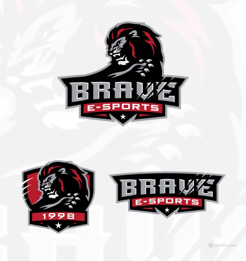 Logotipos de Equipos de eSports y gamers - Diseño de logotipo BRAVE eSport Team