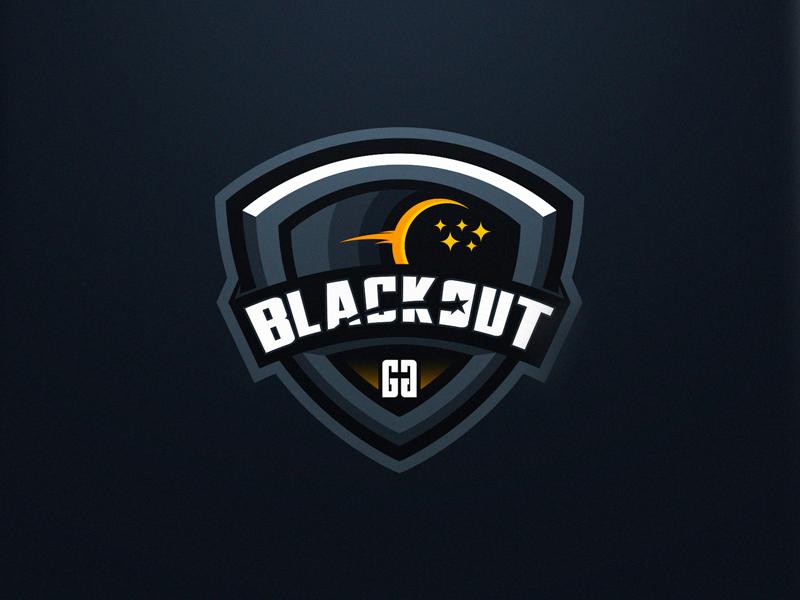 Logotipos de Equipos de eSports y gamers - Diseño de logotipo Blackout eSport Team