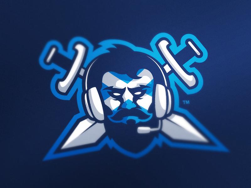Diseño de logotipo del equipo de eSport del clan Blue Beard