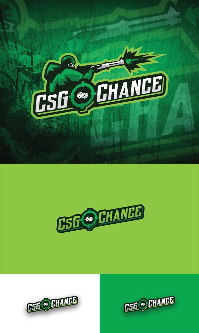 Diseño del logotipo del equipo CS GO CHANCE eSport