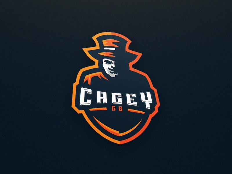 Diseño de logotipo de mascota Cagey.GG eSport