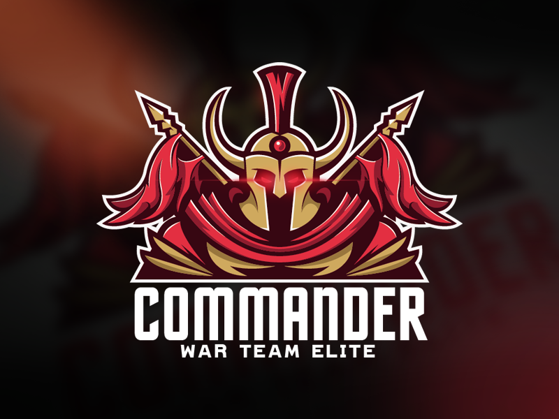 Commander eSport Team Logo Design