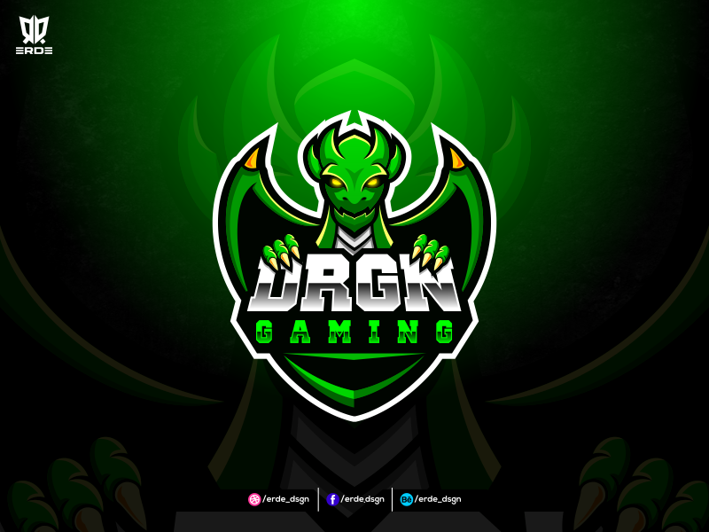 Diseño de logotipo de DRGN Gaming eSport Team