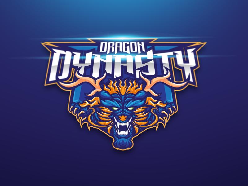 Diseño del logotipo del equipo Dragon Dynasty eSport